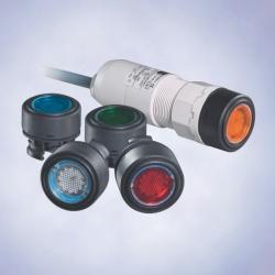 Кнопка с подсветкой для монтажа в пульт,  серия 8018
