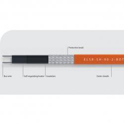 Саморегулирующийся нагревательный кабель ELSR-SH до 250 °C